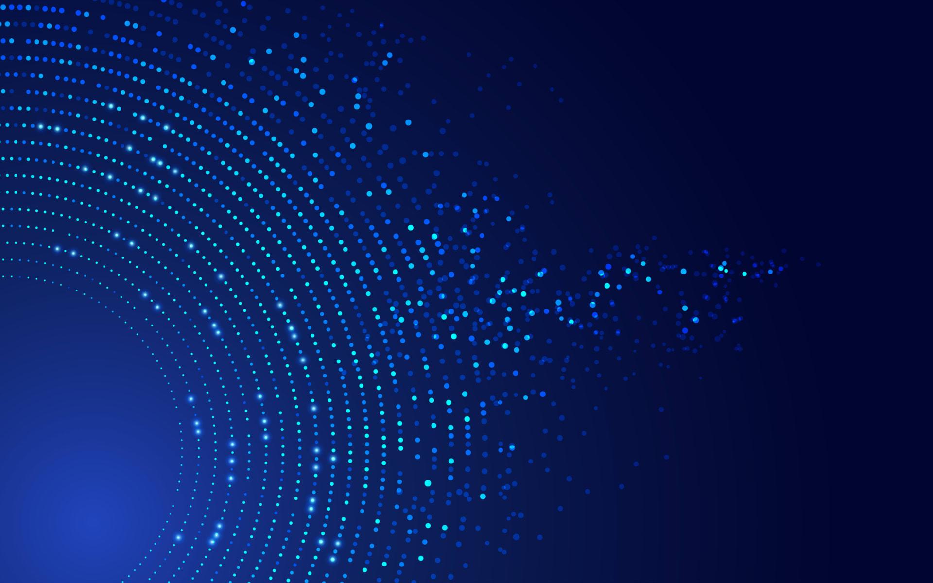 circles on blue computer screen