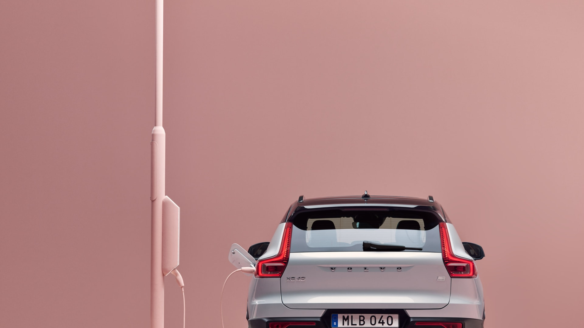Volvo car rear view