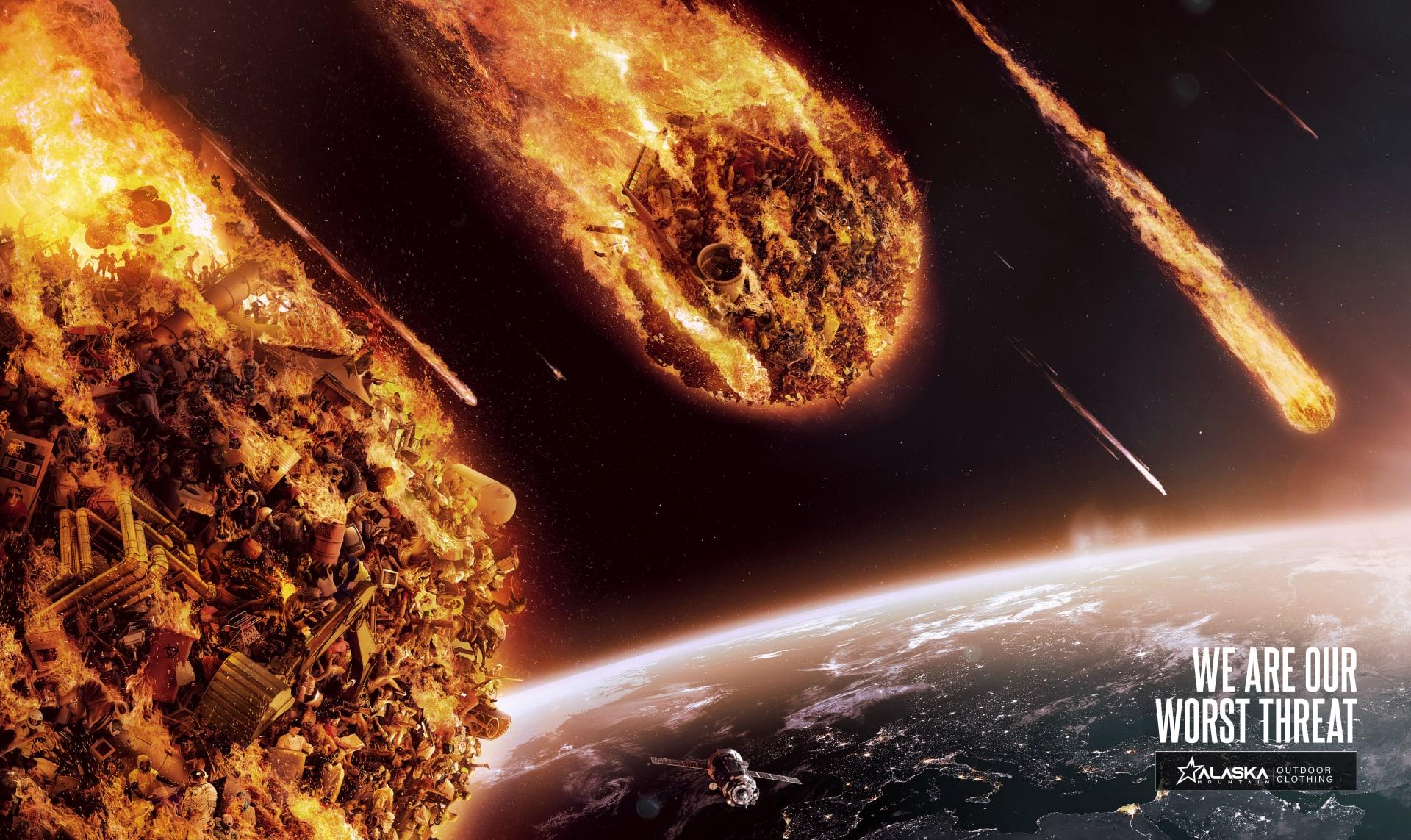 meteorites approaching earth