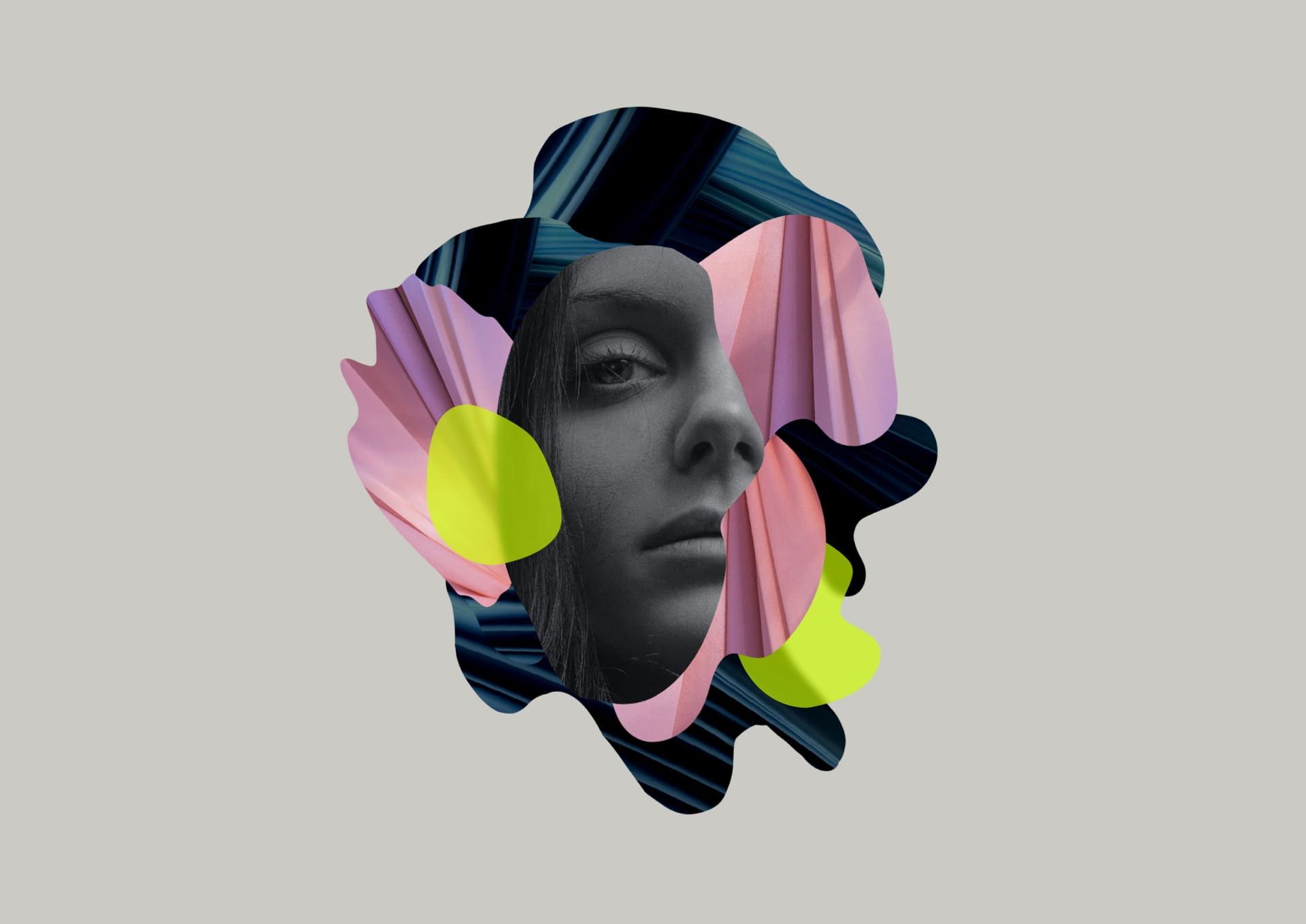 Image of a woman abstract