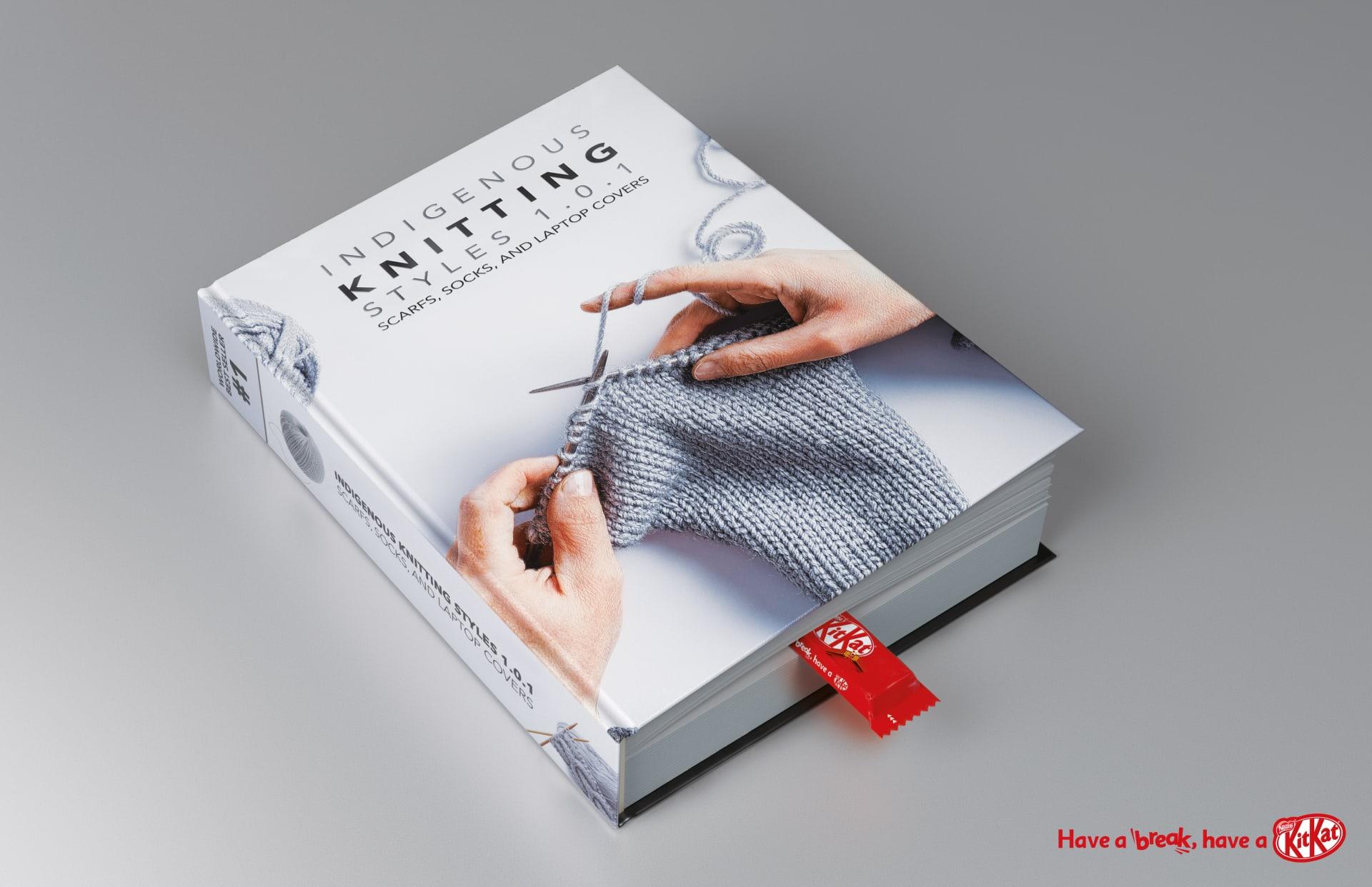 Book on Knitting with KitKat break mark