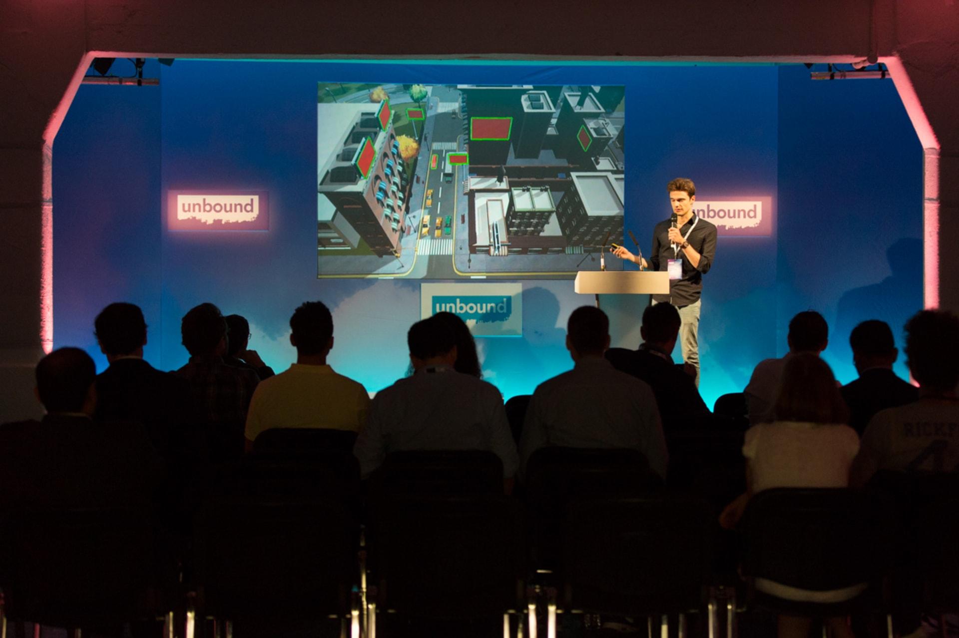 WEB unbound London startup pitching