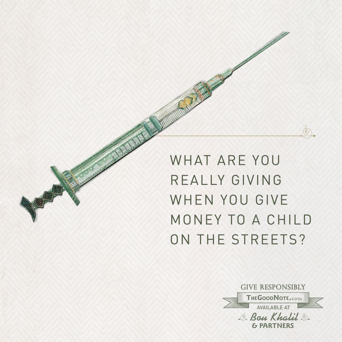 The Good Note Campaign Needle
