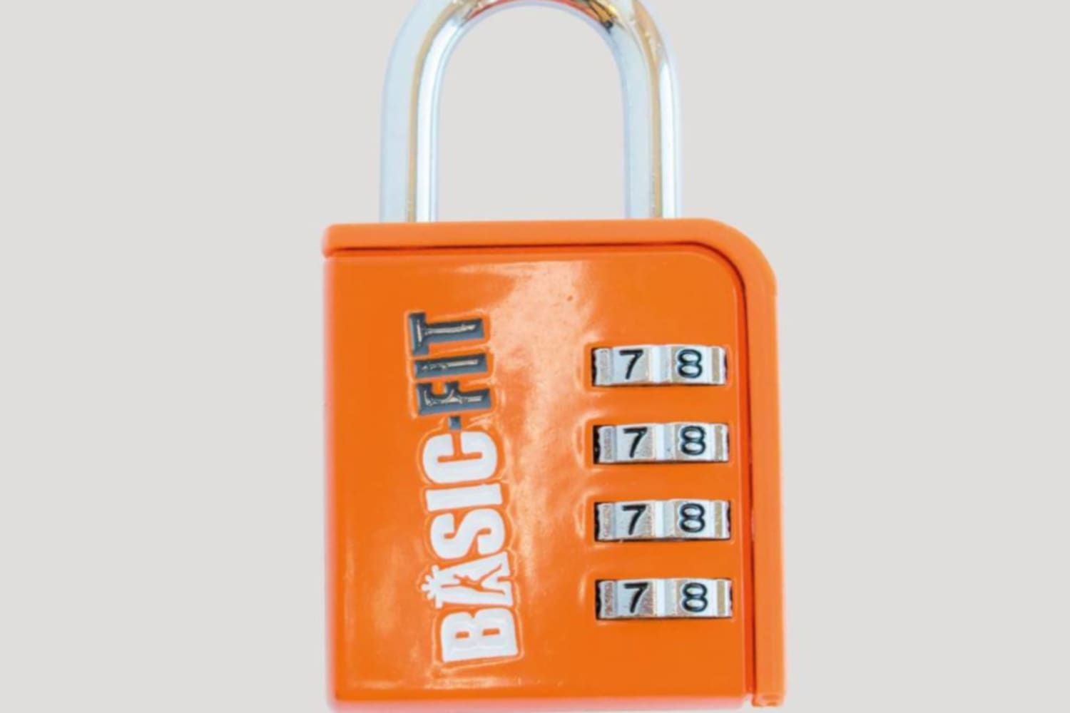 A Basic Fit locker padlock