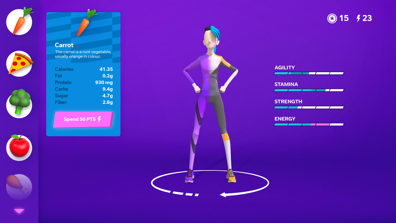 UI Nutrition screen 2x