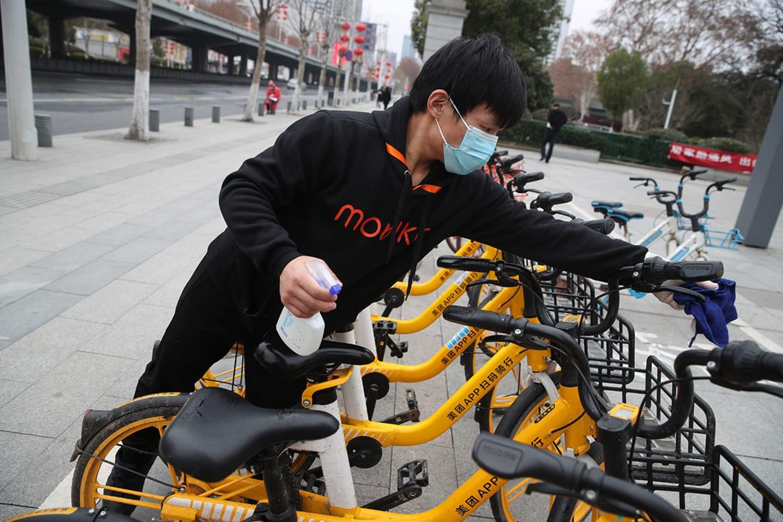 WEB Meituan Bikes disinfection