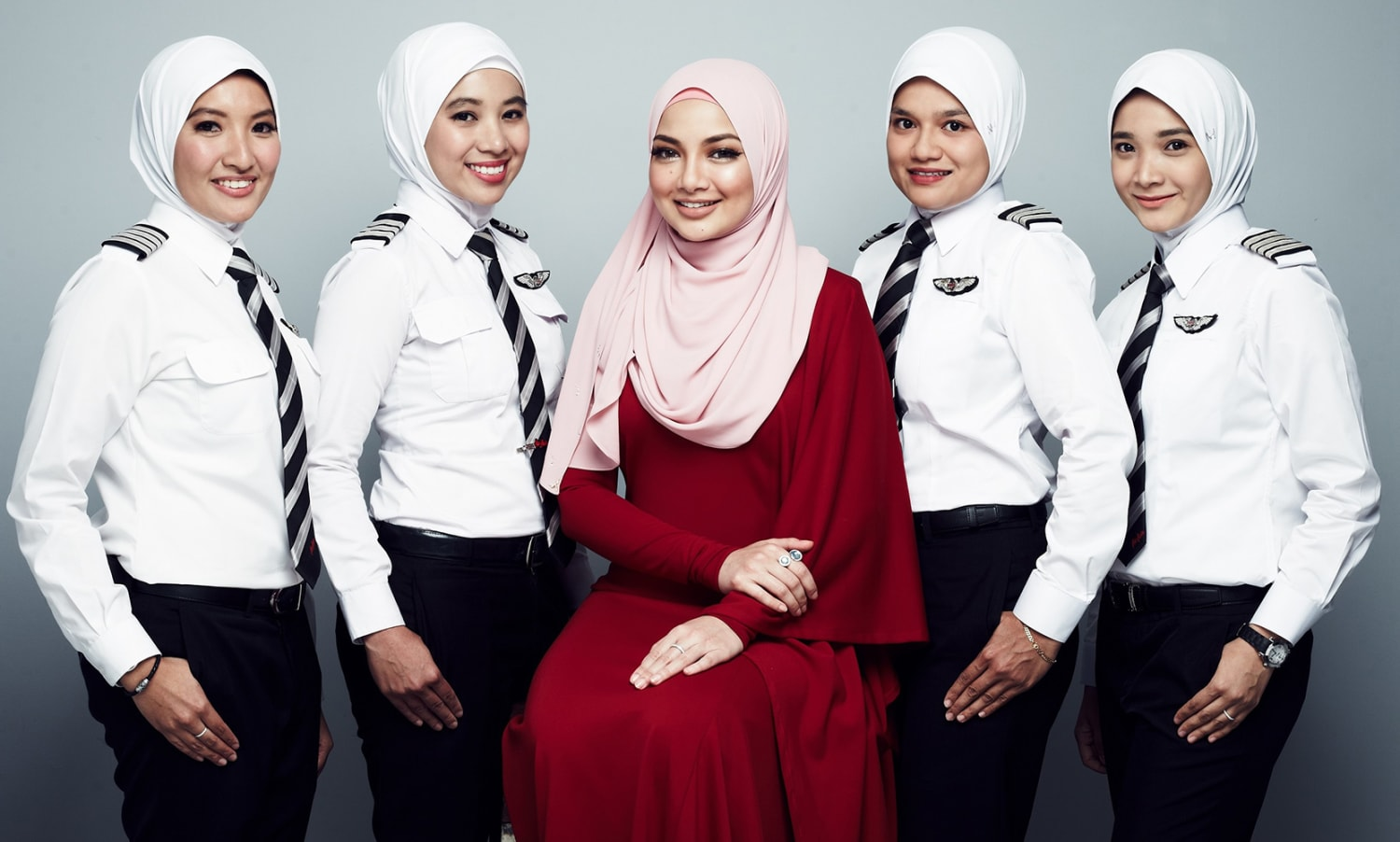 Air Asia female pilots wearing the hijab