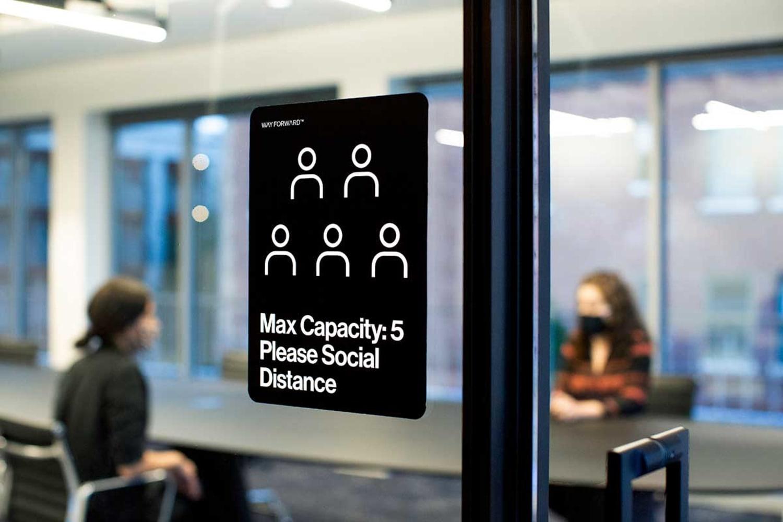 WEB Way Forward Signage Meeting Room Max Capacity