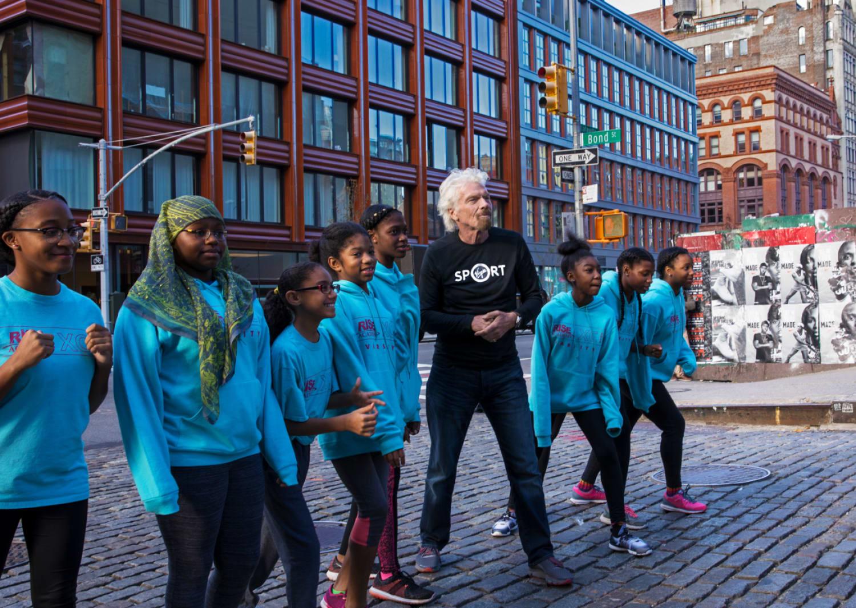 Richard Branson with KIPP Newark photo credit Joanna Ference