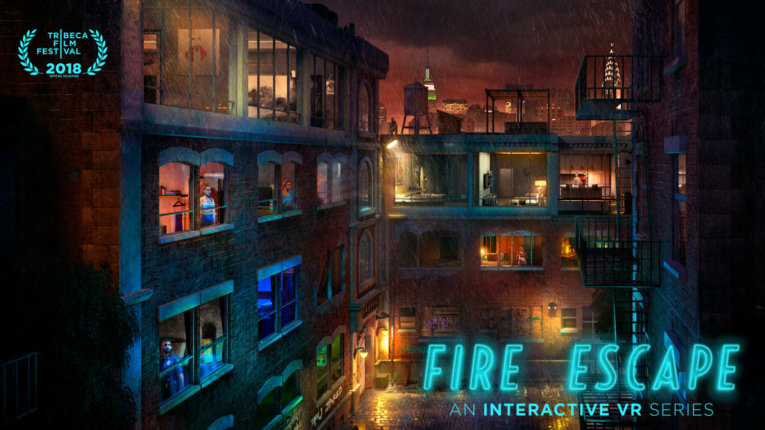 Fire Escape and Logo Poster B