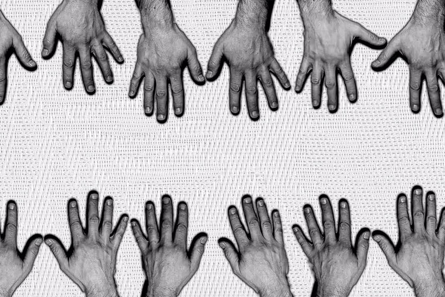 Hands at the Séance sound and darkness immersive performance at the Edinburgh Fringe Festival Image Fiona Rita Blyth
