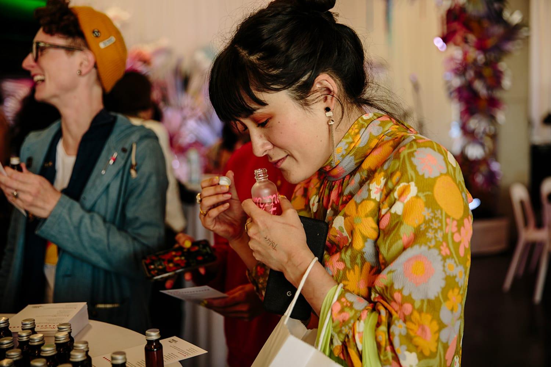 WEB Lauren Yoshiko at oil blending workshop
