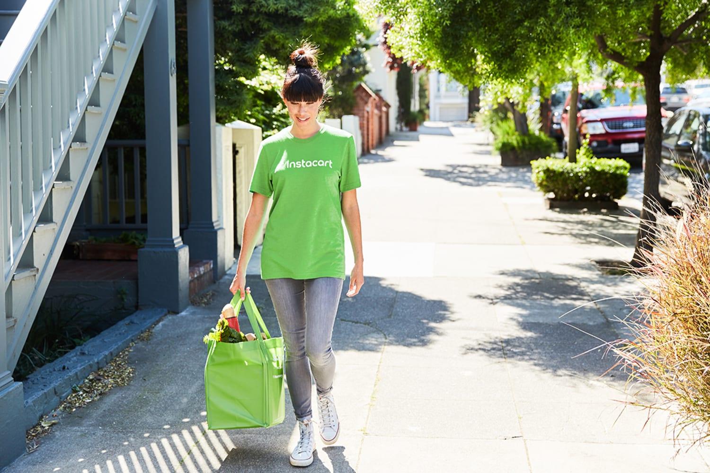 WEB instacart shopper walking