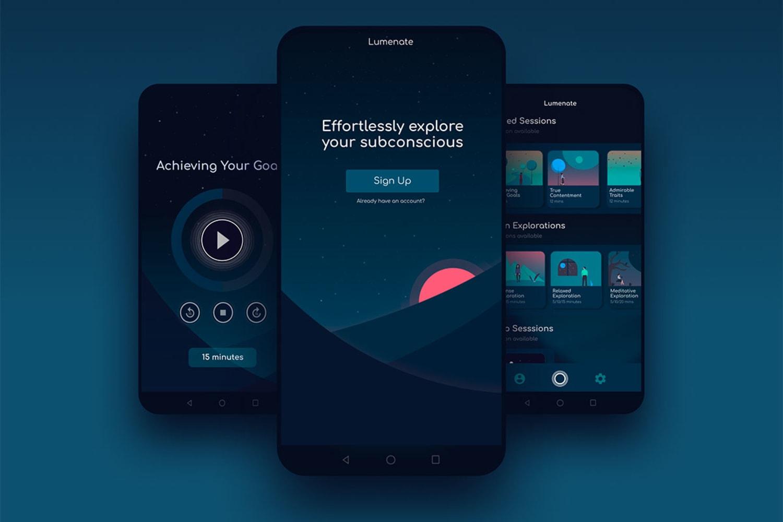 WEB lumenate App Screens 1