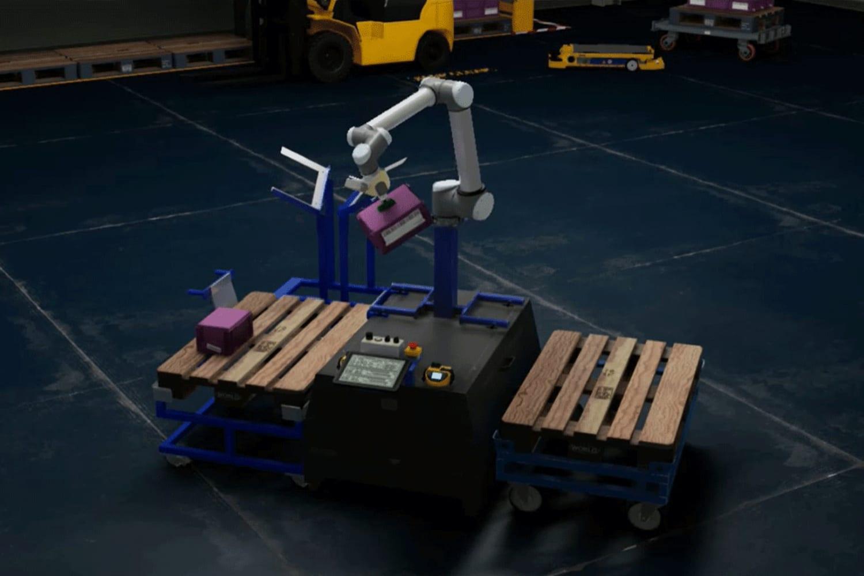 WEB NVIDIA Isaac robotics platform working in sync