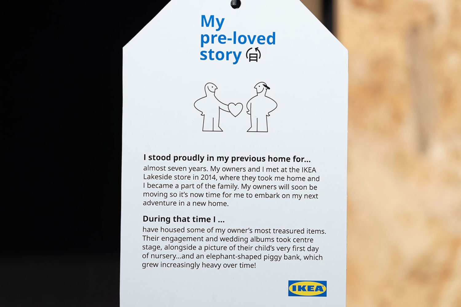 Web2 IKEA launches Pre Loved Labels to its second hand items allowing customers to learn about an items past before giving it a new home