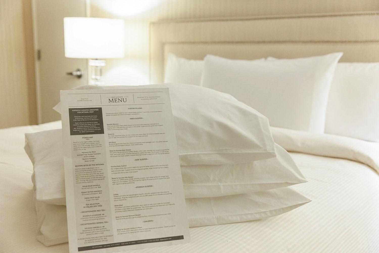 WEB Rest Pillow menu