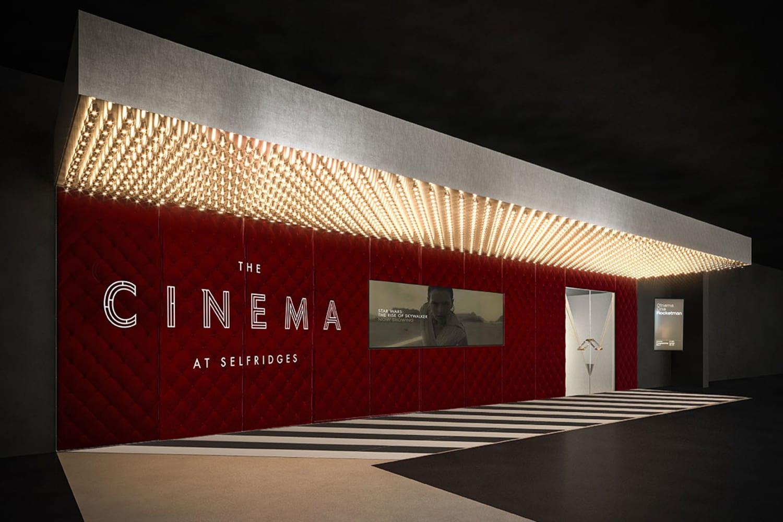 WEB Selfridges Cinema inside store entrance Selfridges illustration hr