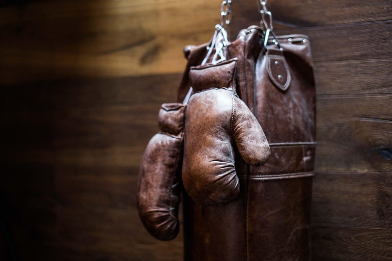 Boxing Gloves at Hammer Nails Mens Grooming Salon
