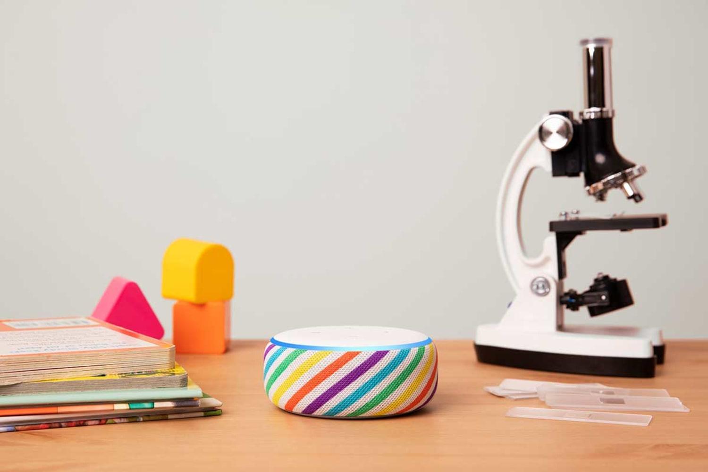 WEB Echo Dot Kids Edition Rainbow Desk 0