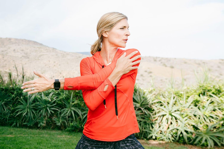 JWT Fitbit Blaze Gabby Reece Stretching