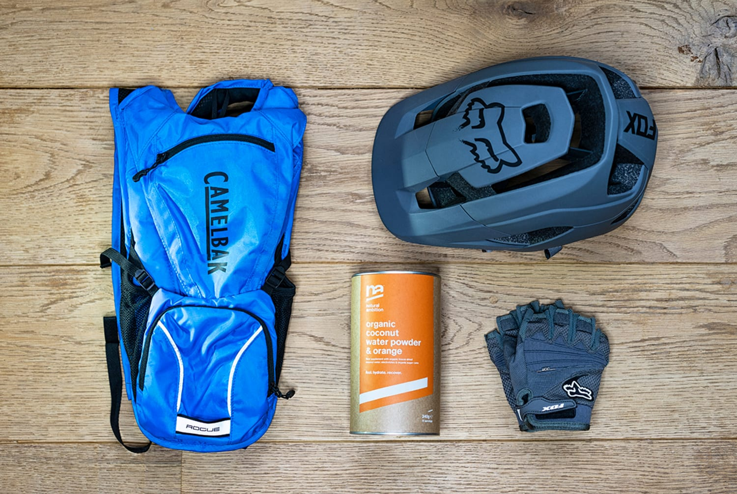 WEB Natural Ambition Organic Coconut Water Powder Orange with gear