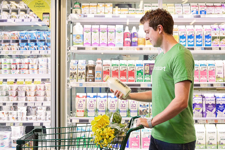 WEB instacart shopper milk