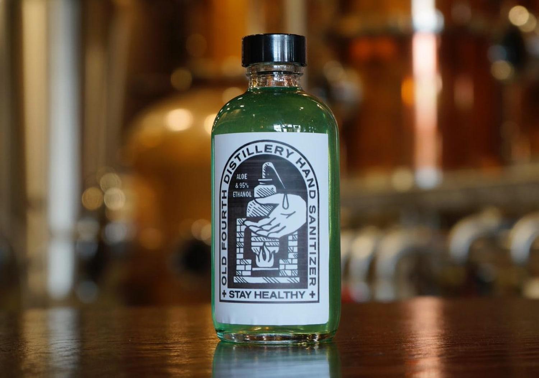 Old Fourth Distillery hand sanitizer
