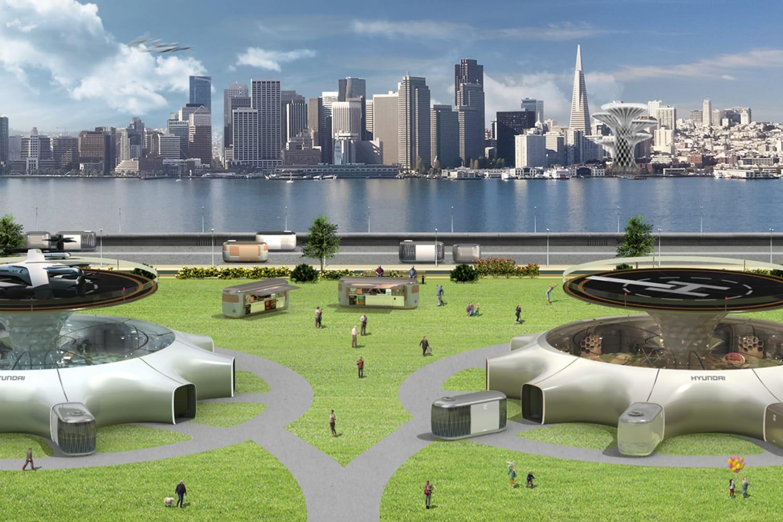 WT Large 39863 Hyundai Motor Presents Smart Mobility Solution UAM PBV Hubto Vitalize Future Cities