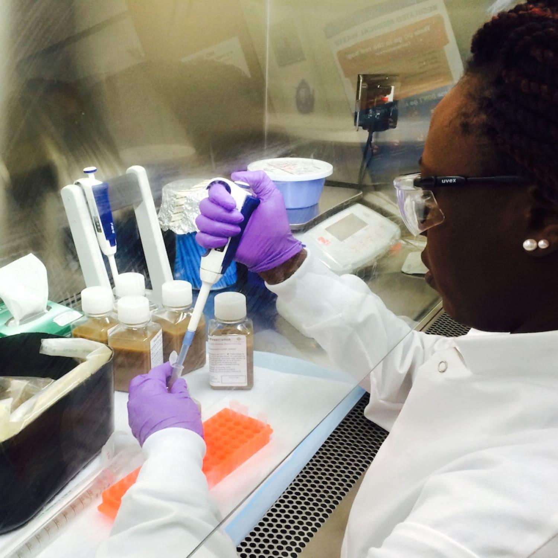 Mary Njenga processing samples WEB