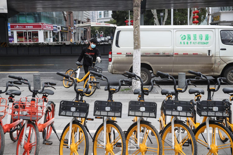 WEB bike dispatch around Wuhan hospitals