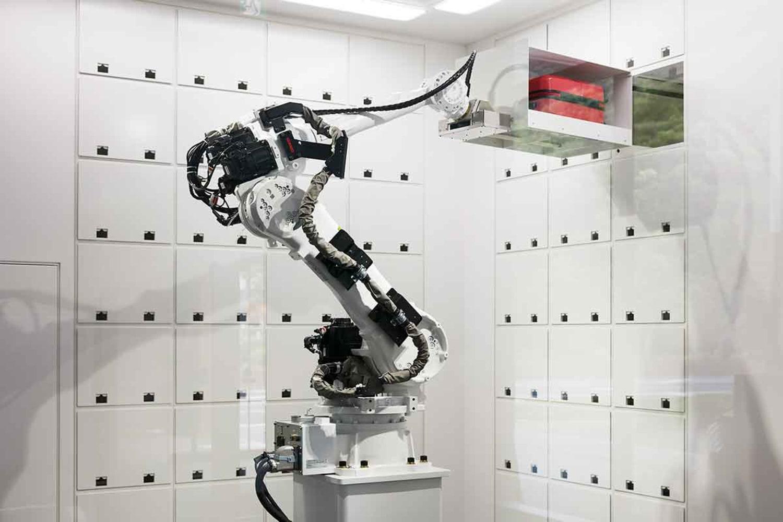 WEB Robot cloak Room