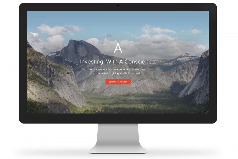 WEB landing display