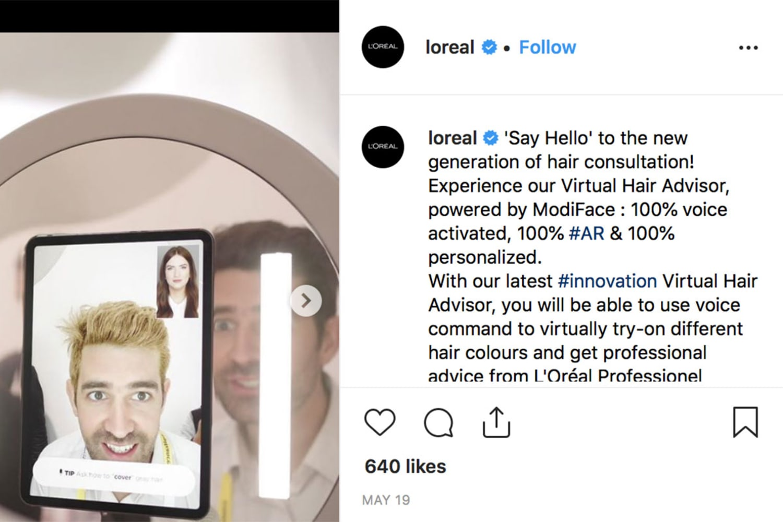 WEB Loreal virtual hair advisor