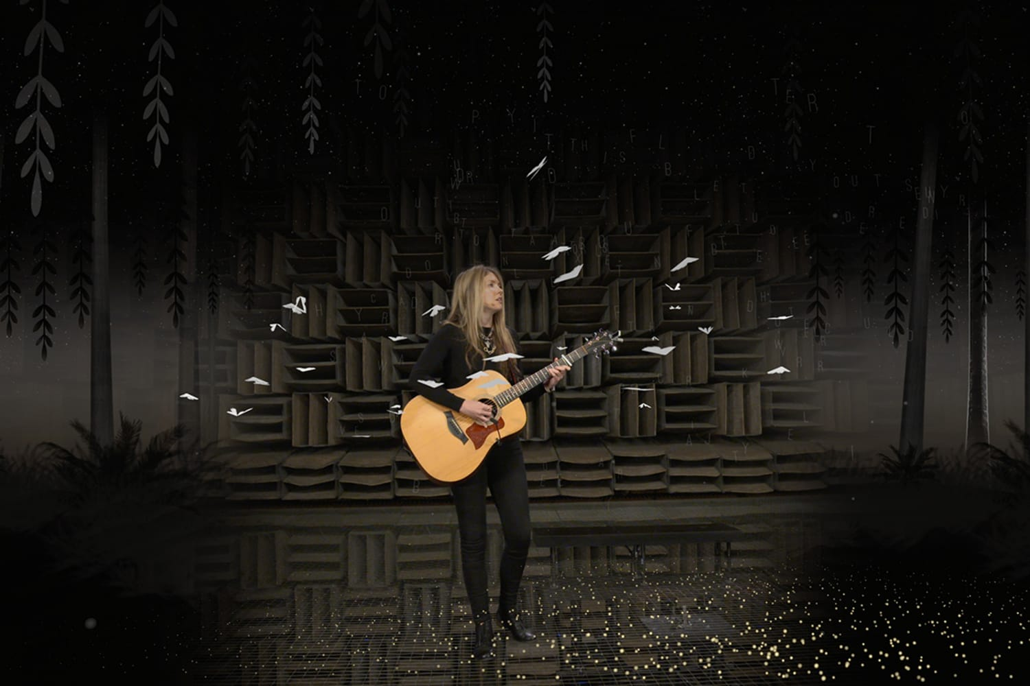WEB Beatie Wolfe 2017 Raw Space singing Little Moth with live generative AR