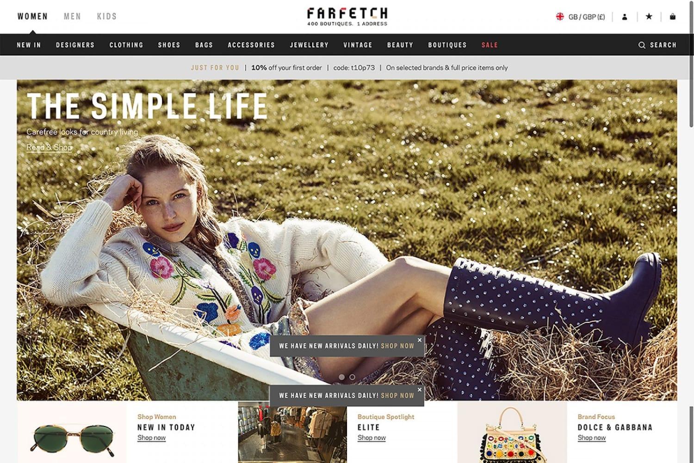 WEB Farfetch EN Homepage image