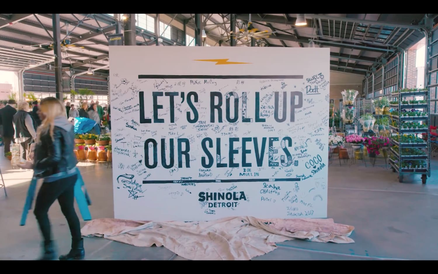 Made in America brand Shinolas Lets Roll Up Our Sleeves campaign in Detroit