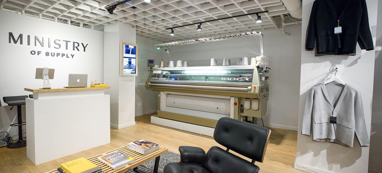 Ministry of Supply 3 D Printer Customized Blazers Boston Flagship Newbury Street