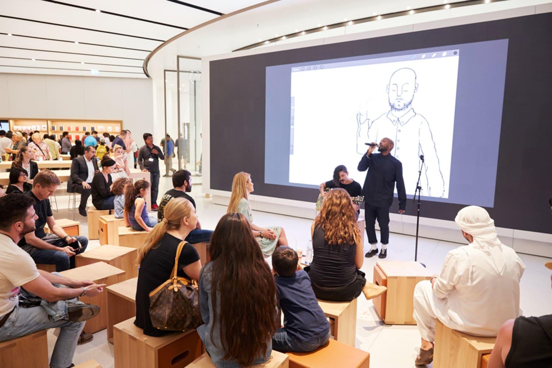 WEB dubai mall music opening
