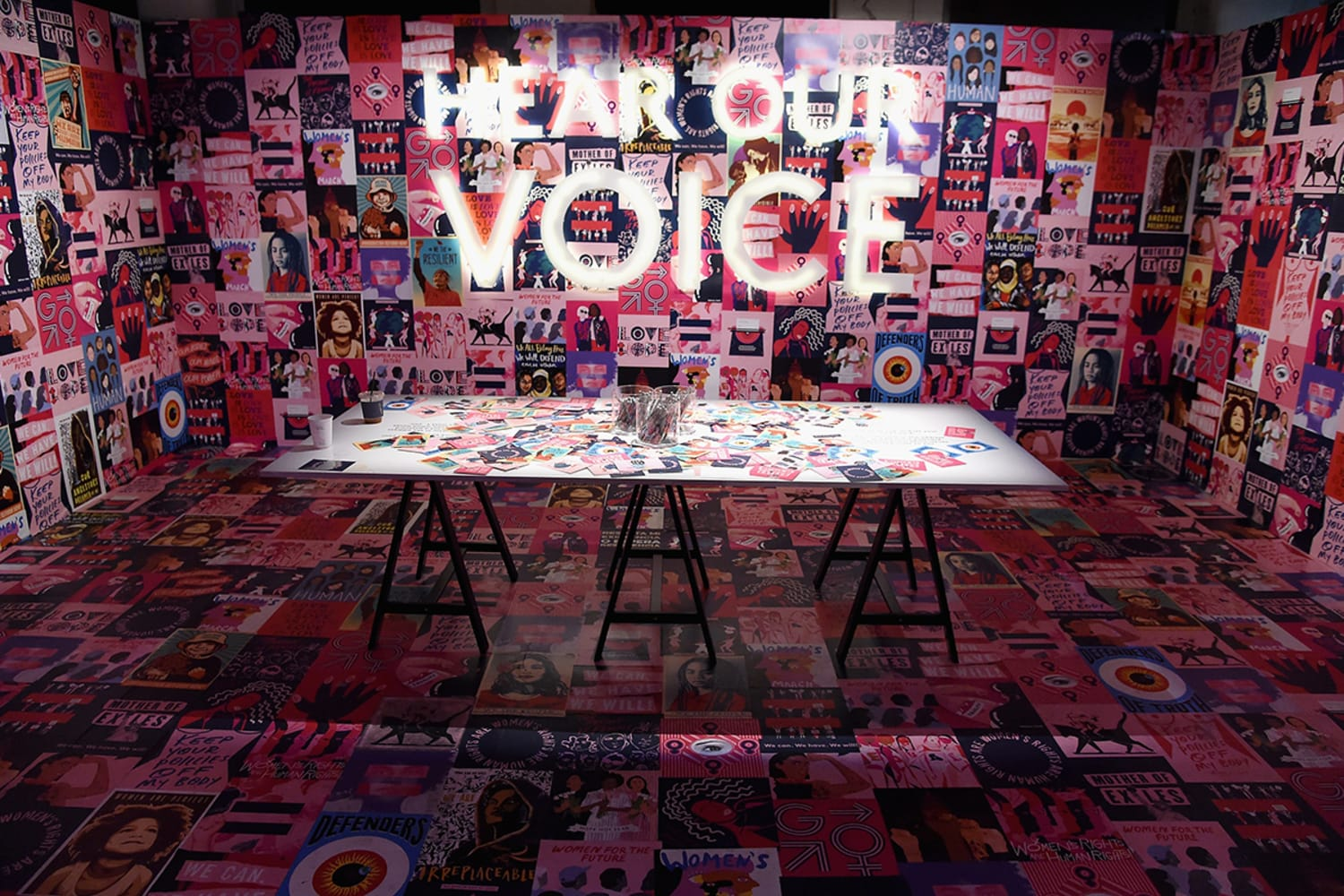 Hear Our Voice by Womens March at Refinery29 Third Annual 29 Rooms Turn It Into Art Press Preview