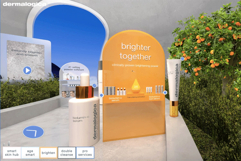WEB dermalogica virtual store brightening room6