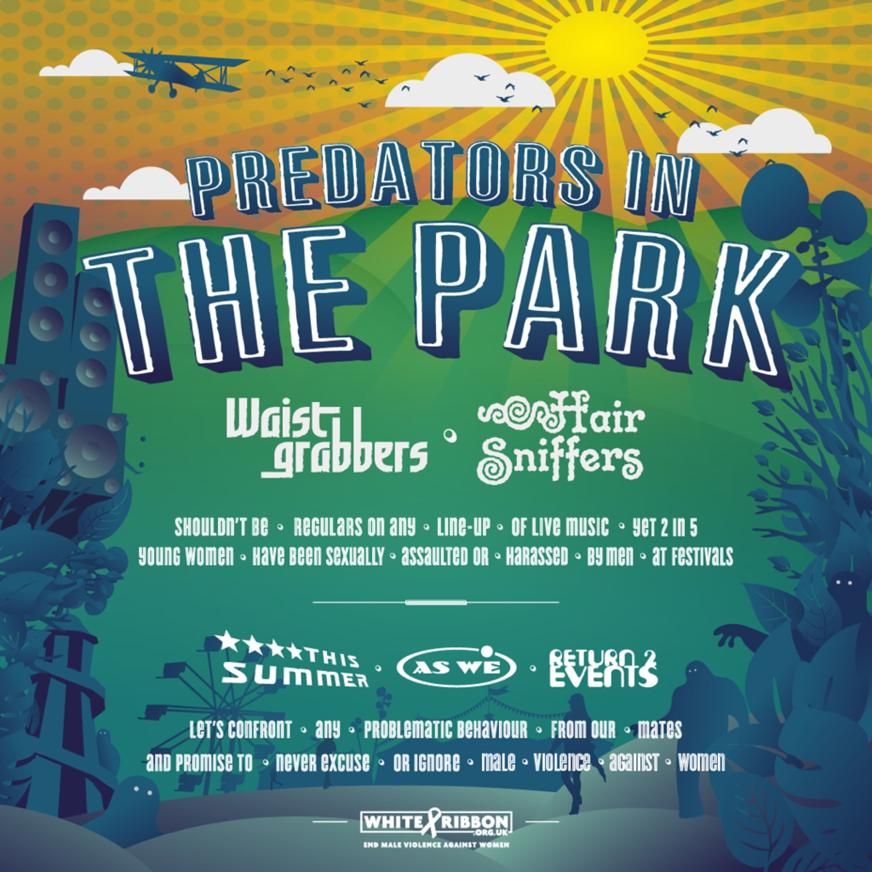 Predators in the park squaere