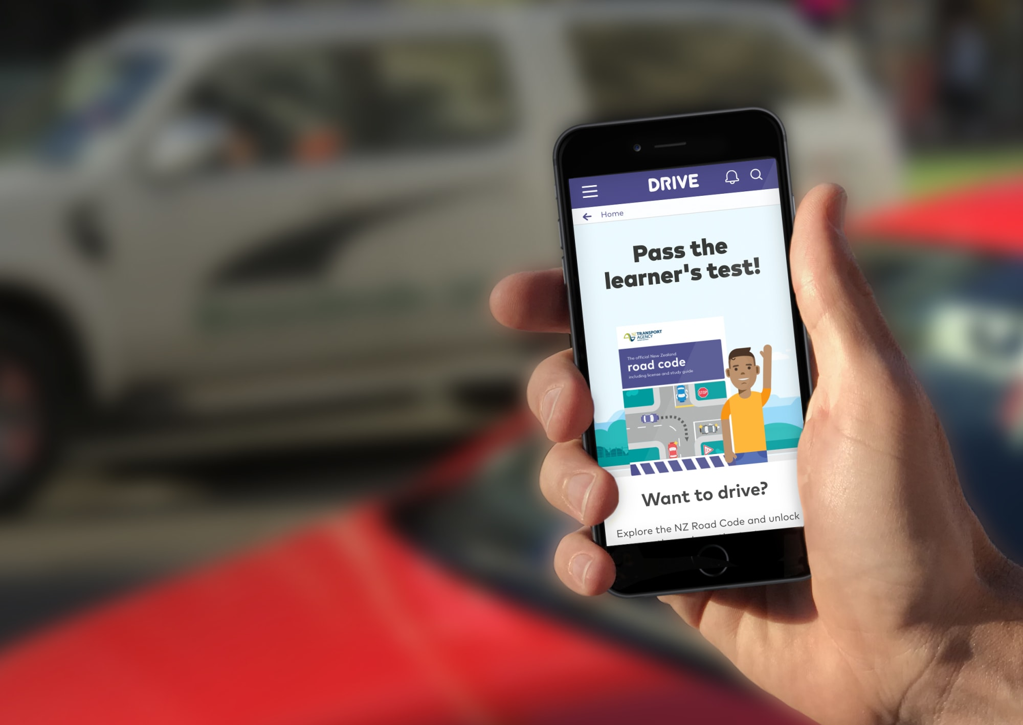 NZ Wellington WORK Drive Phone Mockup