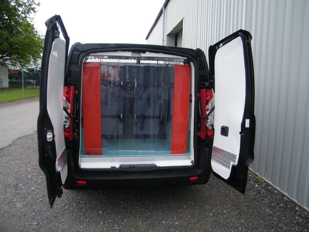Refrigerated Van with Curtains