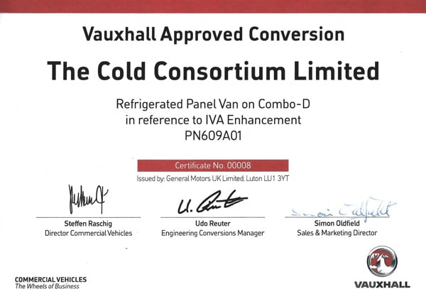 approved vauxhall combo refrigerated van conversions