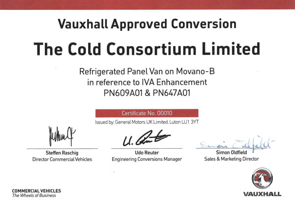 approved vauxhall movano refrigerated van conversions