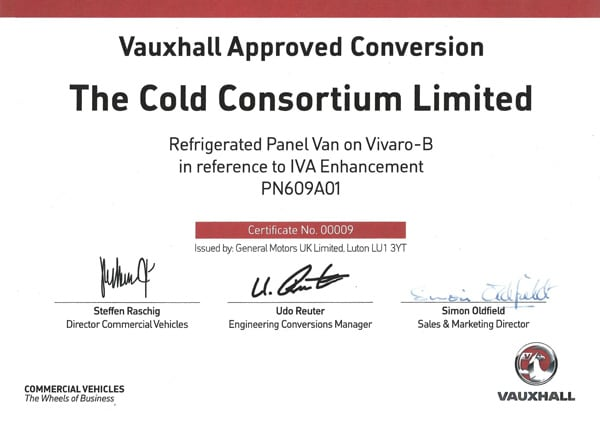certified vauxhall vivaro refrigerated conversions
