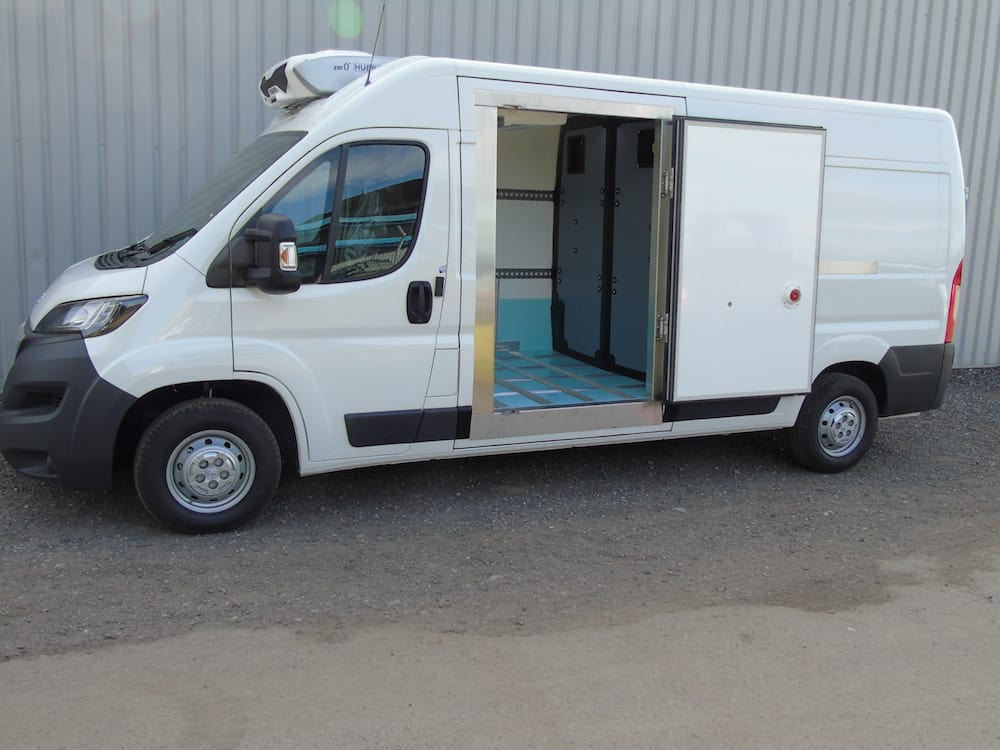 Fridge Van Conversions with Slab Doors