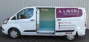 Ford Transit Custom Webasto Chilled Fridge Conversion Side View