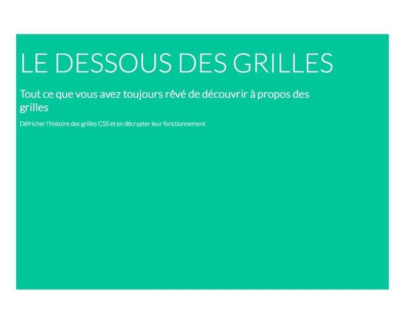 Le dessous des grilles - Paris Web 2013